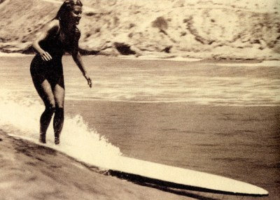 Mary Ann Hawkins. Born in 1919. A Female Surfing Legend from USA.