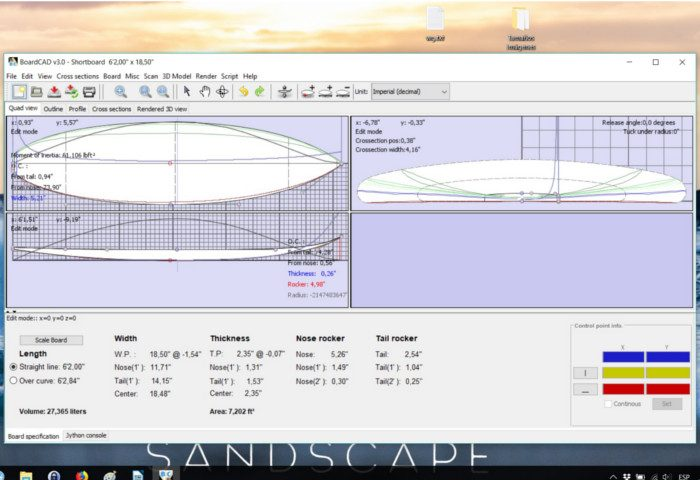 Programas for designing Surfboard shapes