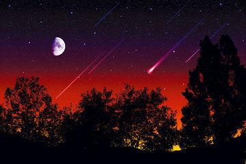 Abb. 4 Laut Clube und Napier wurde die Erde über zehntausende von Jahren hinweg periodisch durch Cluster von Kometenfragmenten bombardiert, mit denen verglichen heutige Meterorströme wie die Tauriden (Bild) lediglich harmlose Himmelsspektakel darstellen.