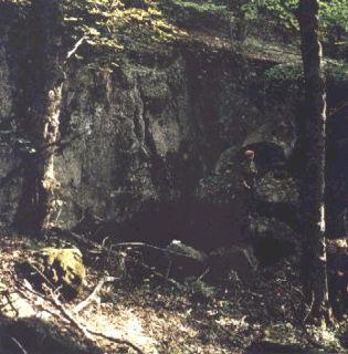 Abb. 1 Der Eingang zur Breitenwinner-Höhle auf einer Aufnahme aus dem Jahr 1990.