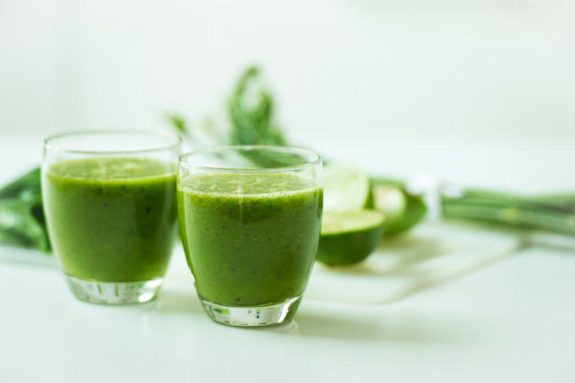 Green concentrate powders can be blended into smoothies for an added punch of nutrients.