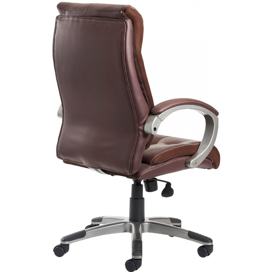 Brown Leather Chairs Calgary Brown Leather Faced Office Chair