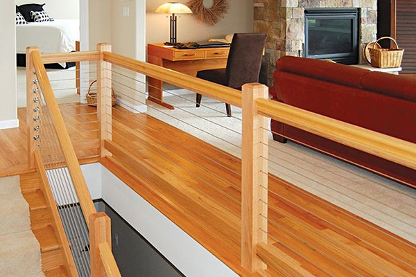 Cable Railing Options For Indoor Stairs Atlantis Rail Systems | Cable Stair Railing Indoor | Exterior Irregular Stair | Vertical | Wood | 90 Degree Stair | Stainless