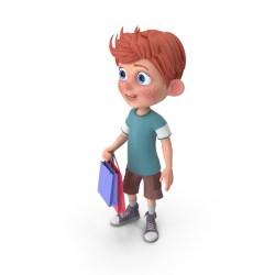 cartoon boy shopping charlie pixelsquid psd