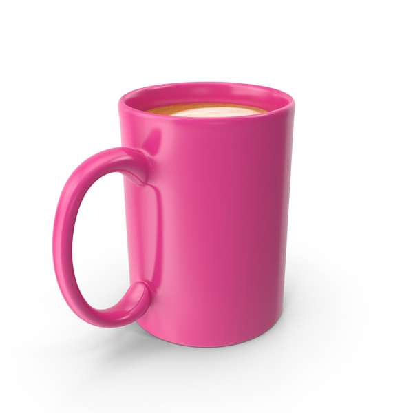 Pink Cup With Cappuccino PNG Images Amp PSDs For Download