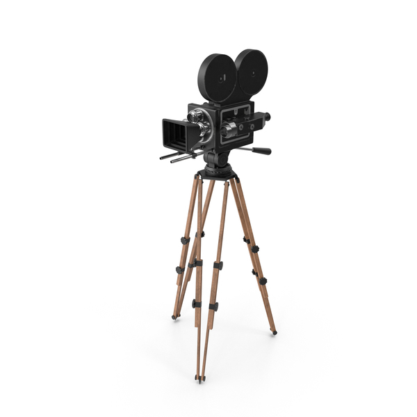 Vintage Video Camera and Tripod PNG Images & PSDs for