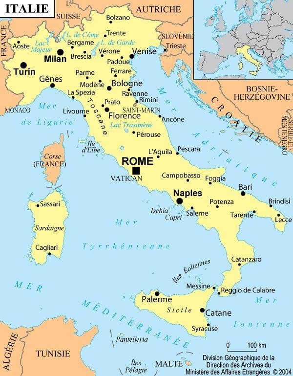 Carte De L Italie Du Nord : carte, italie, Cartes, L'Italie, Informations