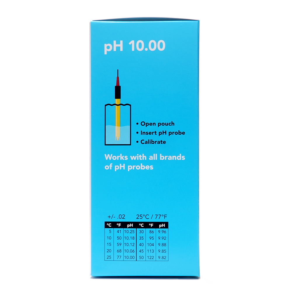pH 10.00 Calibration Solution Pouches (Box of 25)