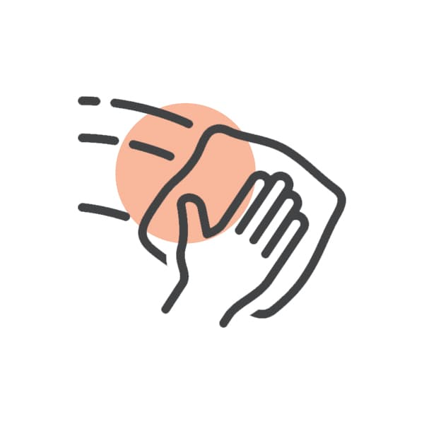 cleaning hand icon