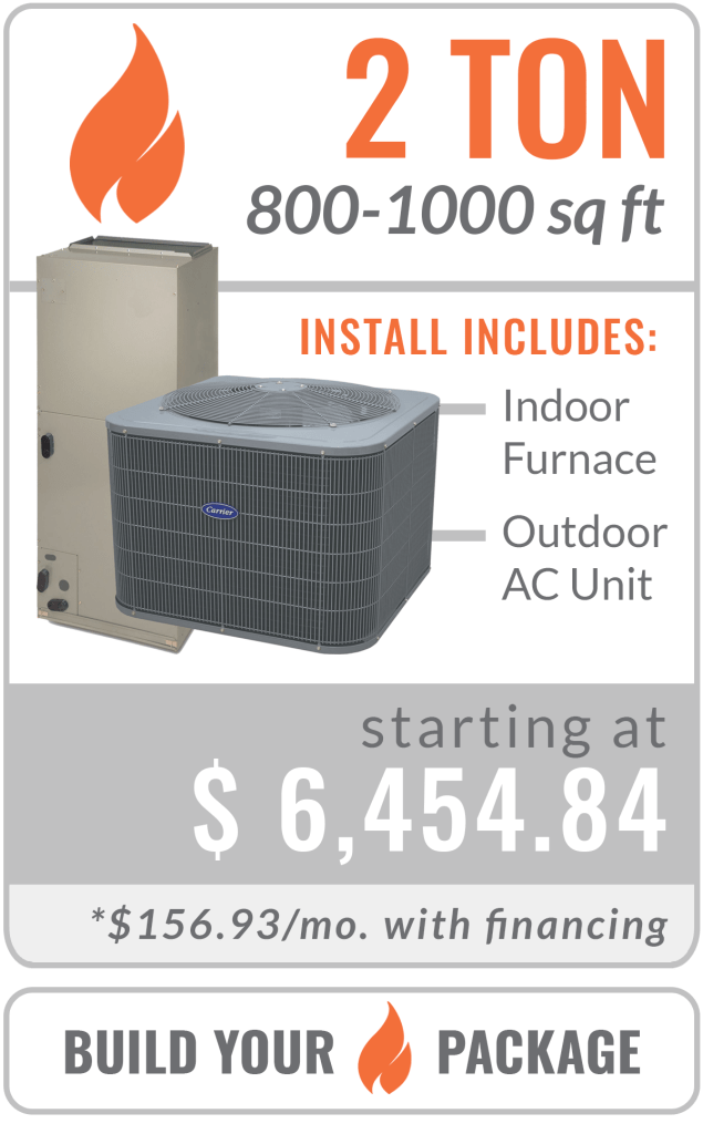 gas 2 ton furnace and ac unit replacement
