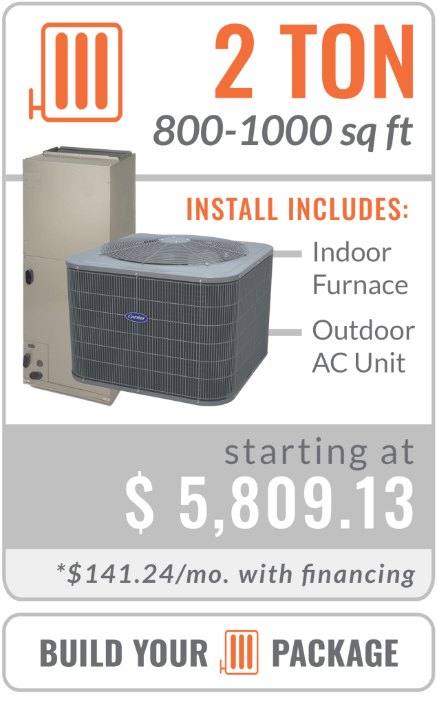 heat pump 2 ton furnace and ac unit replacement