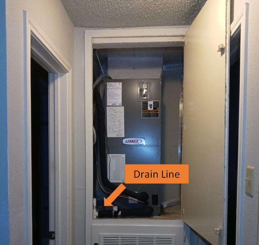 HVAC drain line