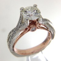 rose and white gold engagement ring.