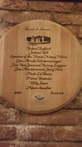 List of high profile members of the Castello di Amorosa wine club