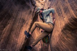 Justine stemming in Ding and Dang slot canyons
