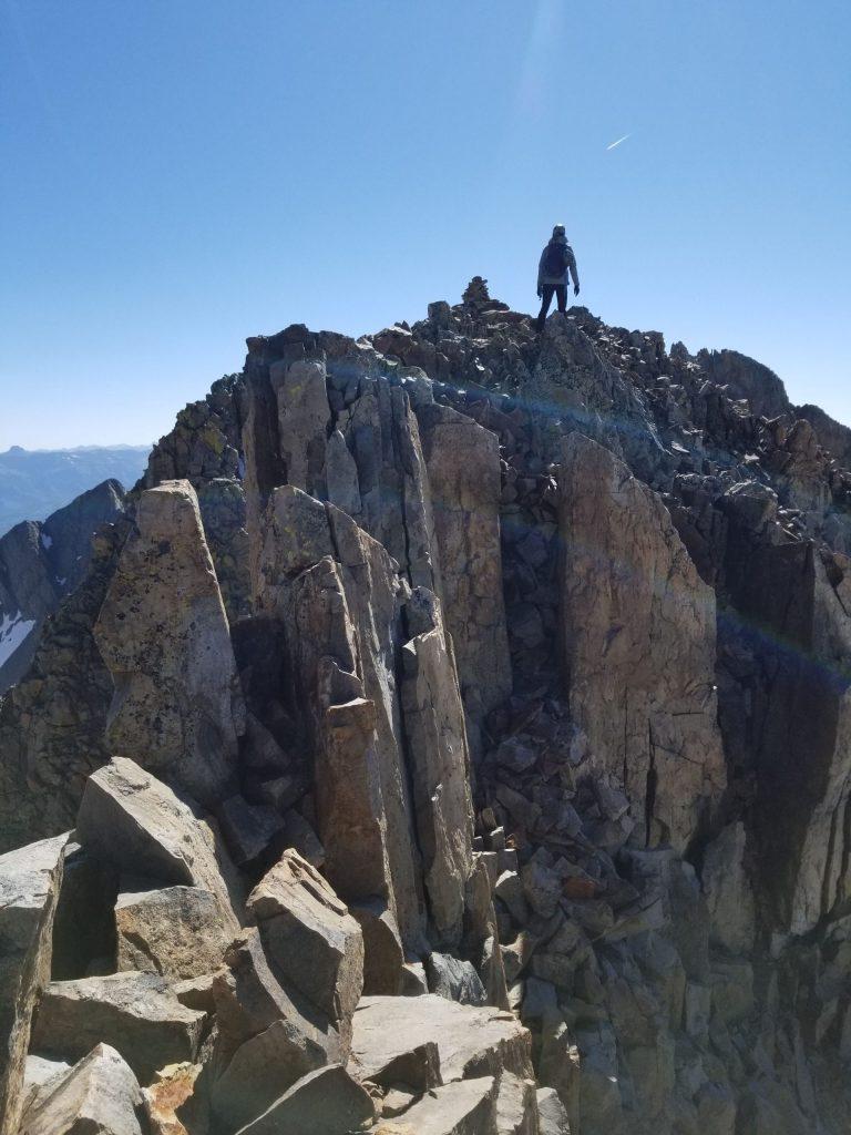 at the summit of Mt. Wilson after the El Diente Mt. Wilson Traverse