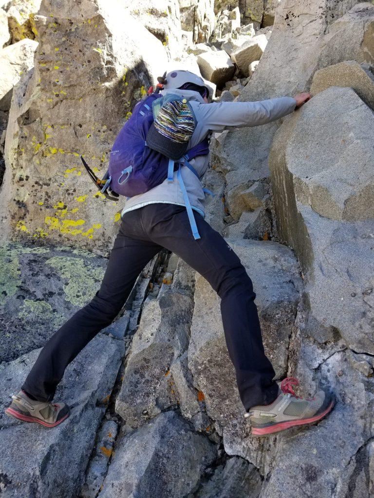Climbing up wilson on the El Diente Mt. Wilson Traverse