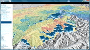 3D Stacked Charts (Decennial Glacier volumes)