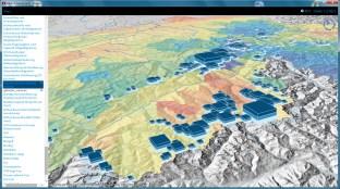 3D Stacked Charts (Decennial Glacier volumes)