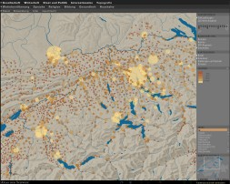 Zooming and panning: Control by manipulation of the map excerpt