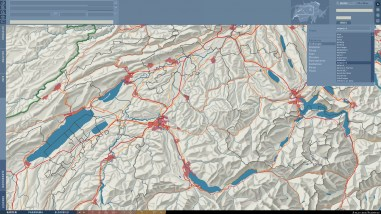 Index: Search for basemap (e.g. mountain names) and thematic elements (e.g. chemical sites)