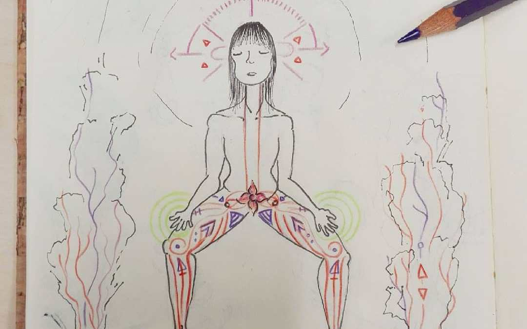 art therapy intuitive drawing chakra energy