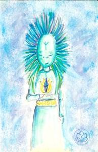 desenho holistico, os teus guias de luz elementares, meditação eu superior atlas do ser
