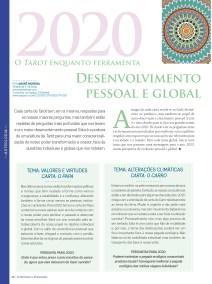 Revista Astrologia 2020 . Atlas do ser . André Moreira Previsões com Tarot Terapeutico