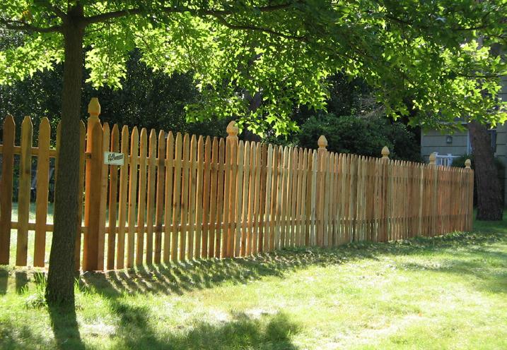 wood fences custom built