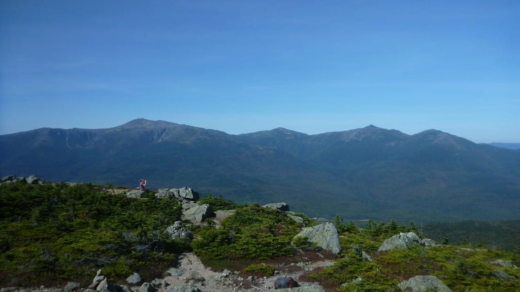 A view from Mount Hight, looking at the Presidential Range of the White Mountains National Forest.