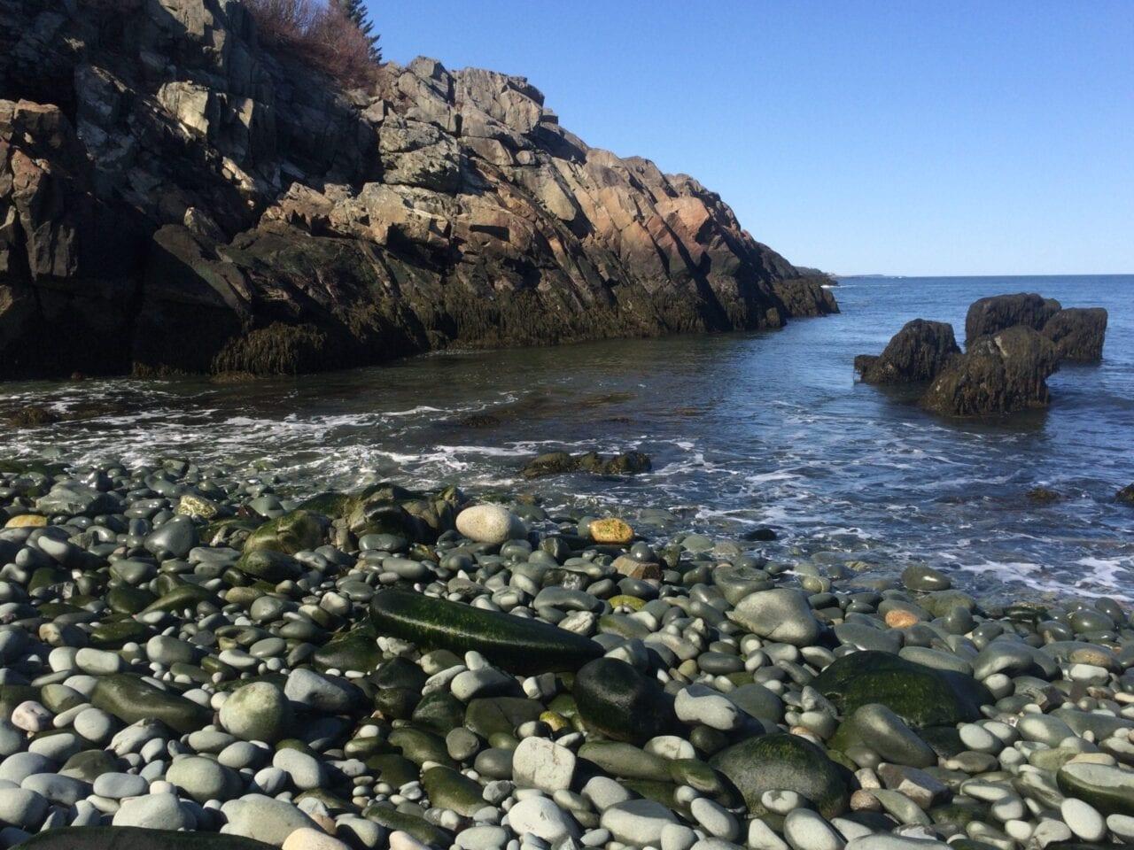 A rocky beach on Maine's Cutler Coast.