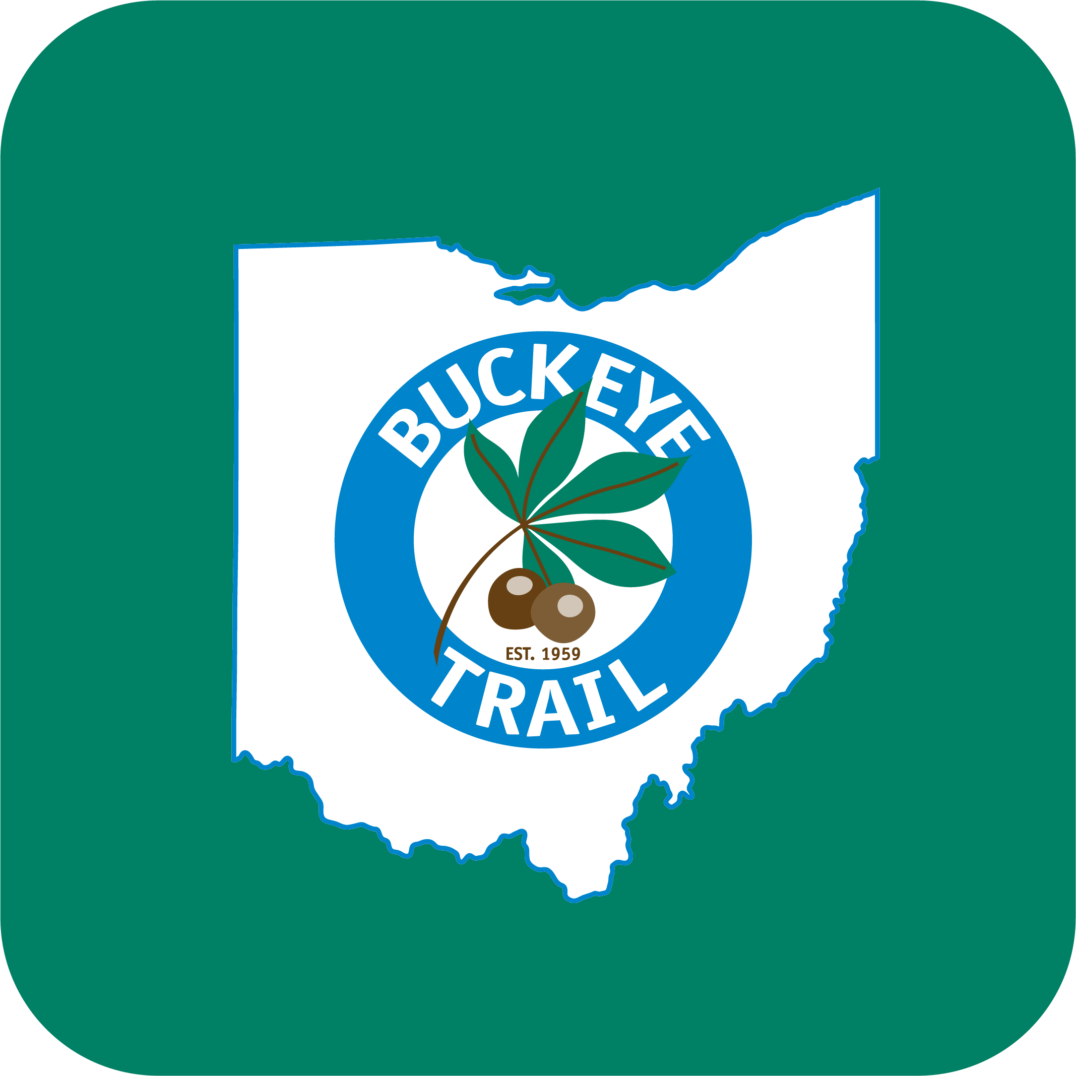 App icon for the Buckeye Trail.