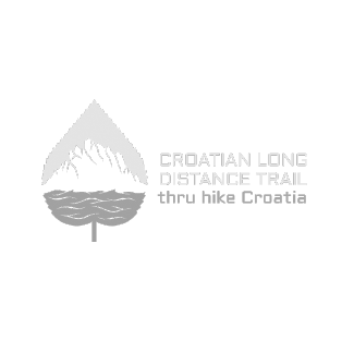 A logo for the Croatian Long Distance Trail Association.