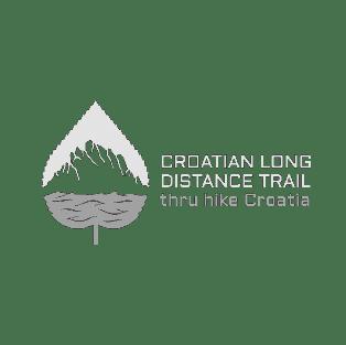 A logo for the Croatian Long Distance Trail Association.