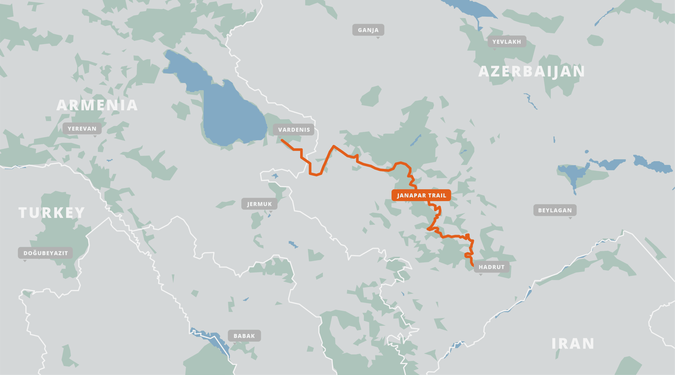 A map of the Janapar Trail.