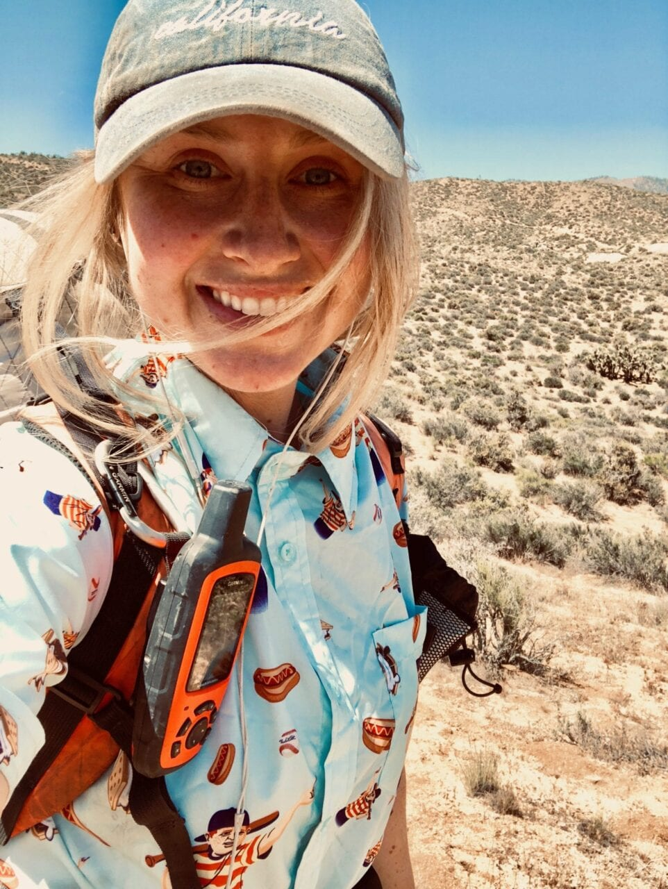 A woman hiking the Pacific Crest Trail.