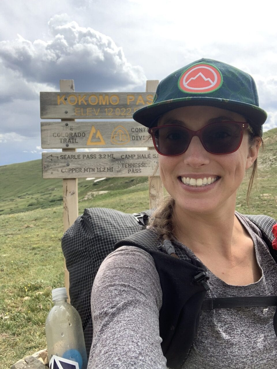 A woman taking a selfie on the Colorado Trail.