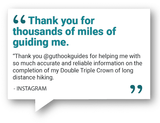 Testimonial about the Guthook Guides smartphone app.
