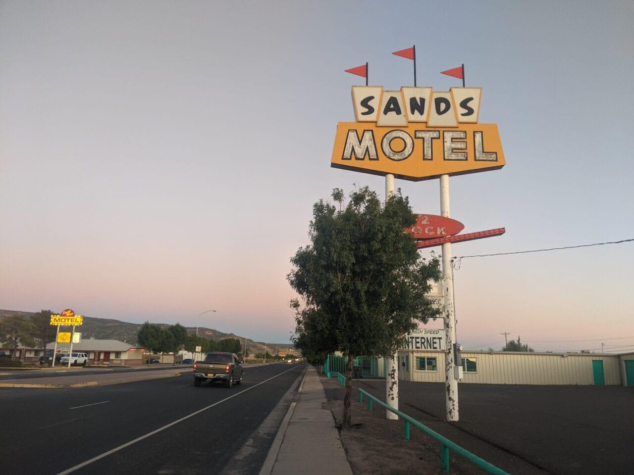 Sands Motel sign