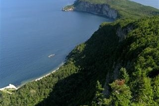 The coast along the International Appalachian Trail