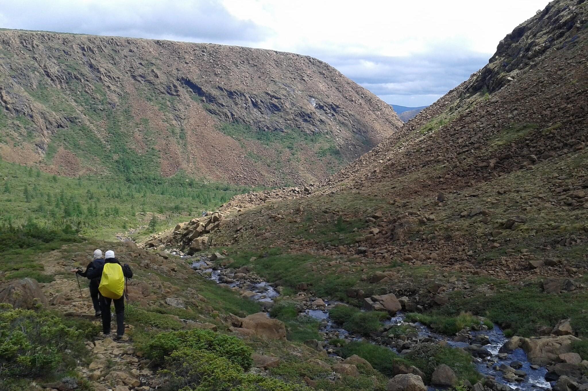 People hiking on the International Appalachian Trail