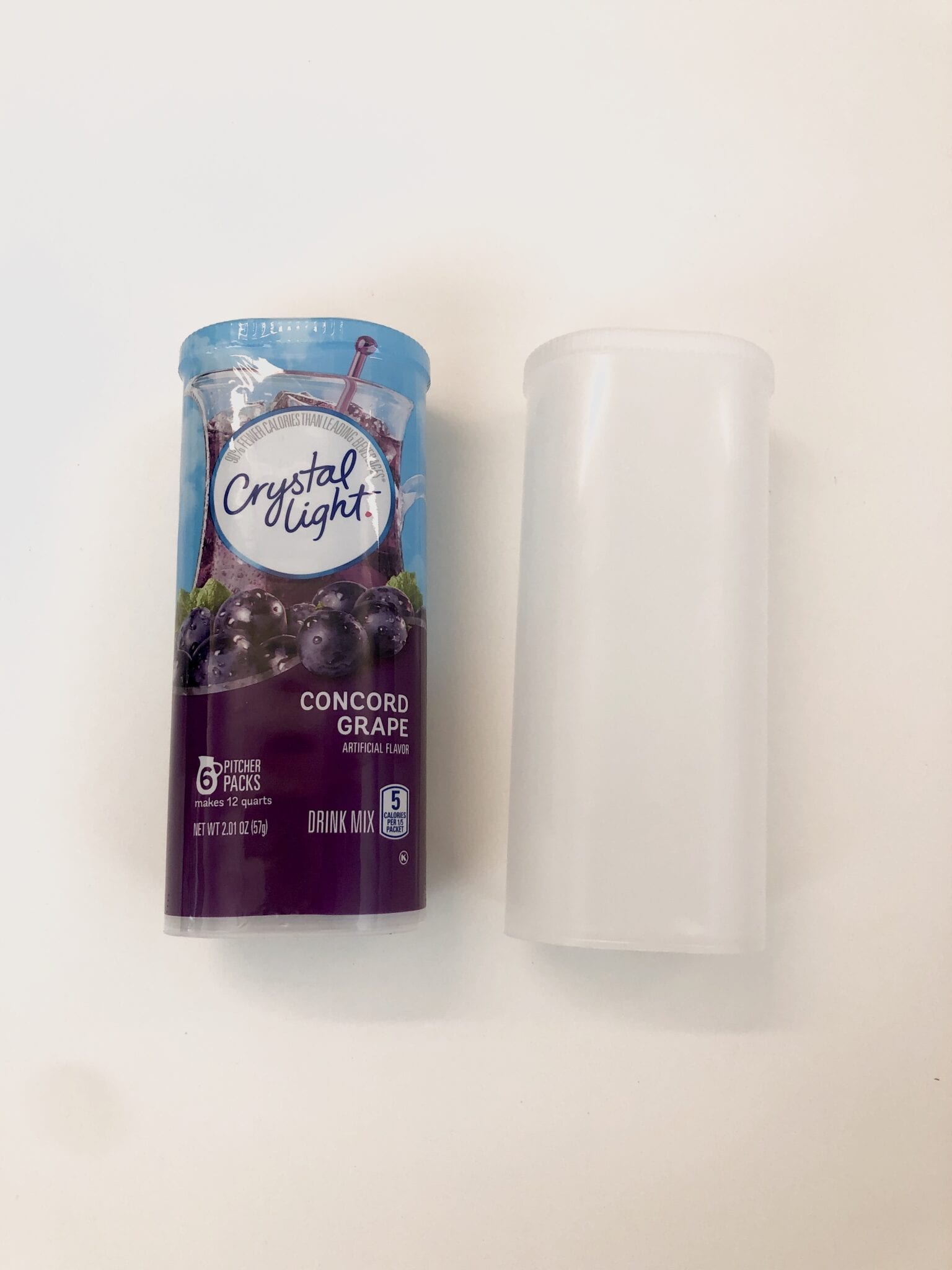 Two Crystal Light containers next to each other.