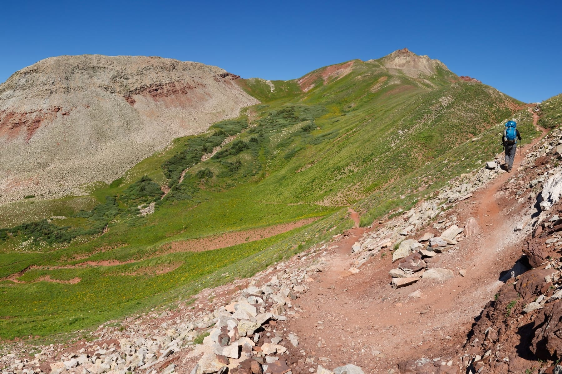 A hiker on the Colorado Trail.