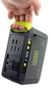 A handheld portable battery