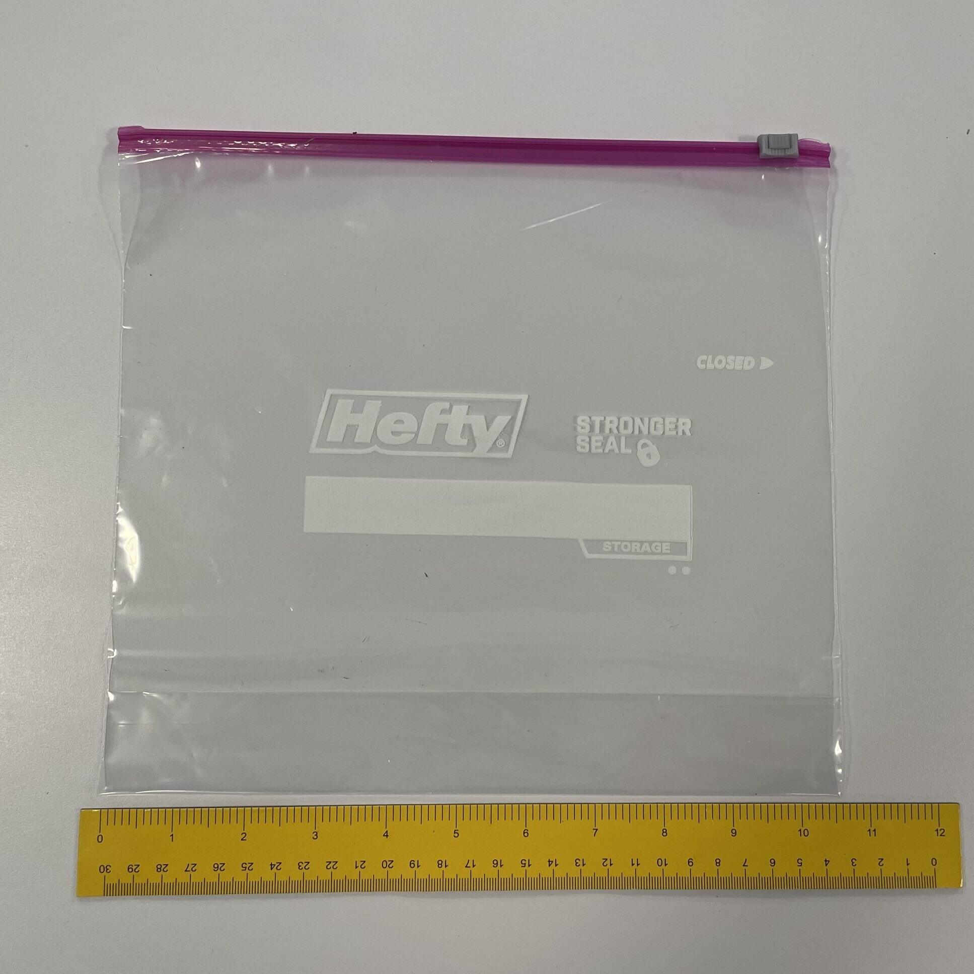 A hefty bag being measured