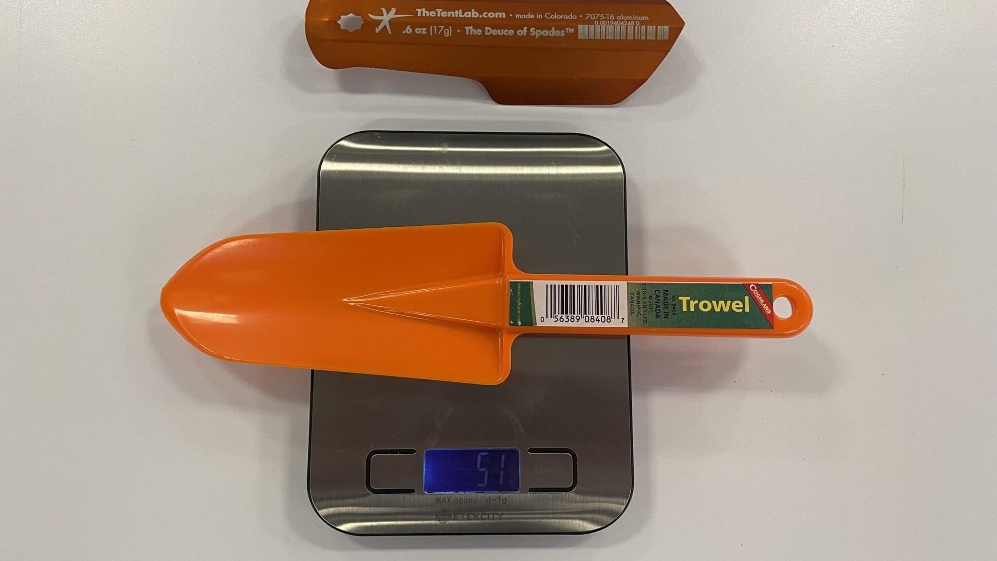 shovel being measured
