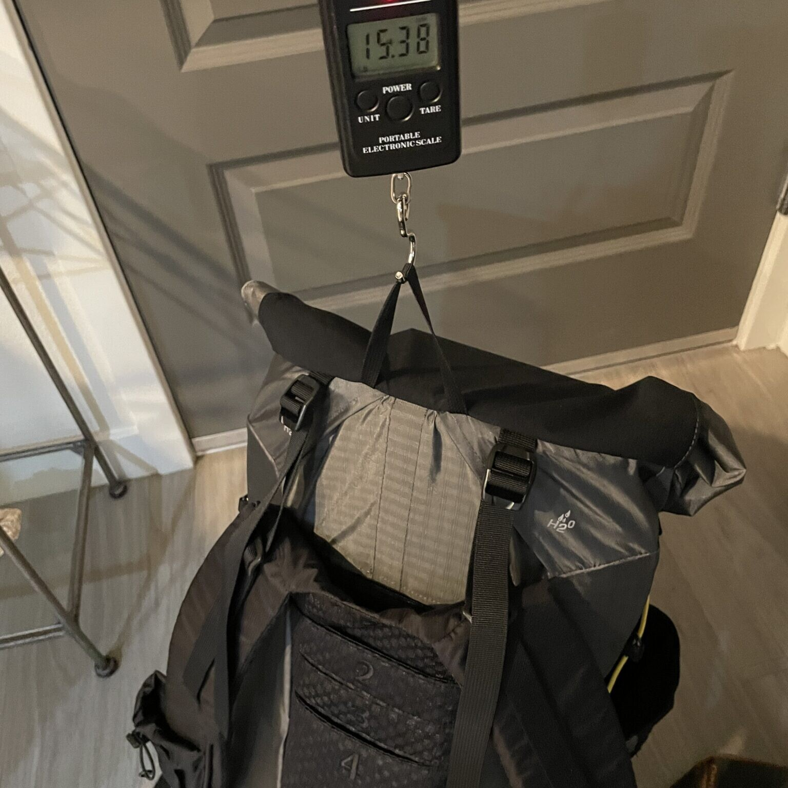 a backpack and its total base weight