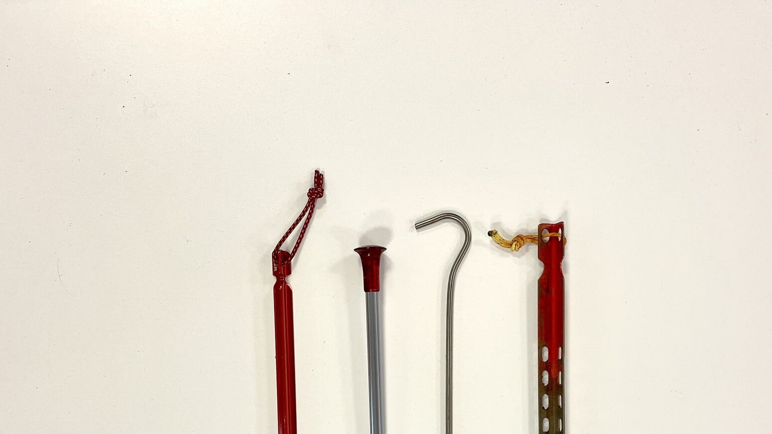4 different common tent stakes