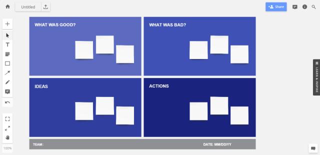 Sprint retrospective idea #5: template for a quick retrospective