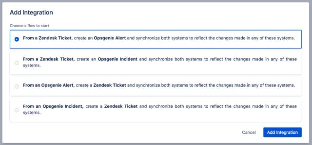 integration framework for Zendesk